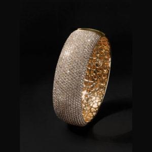 Brazalete de oro amarillo con Diamantes